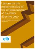 Lessen over de proportionaliteit van de implementatie van de EPBD 2010