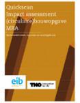Quickscan Impact assessment (circulaire) bouwopgave MRA