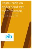 Restauratie en onderhoud van monumenten tot 2018